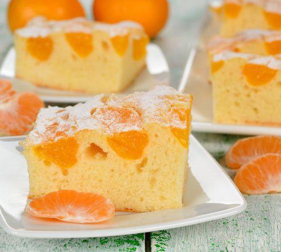 Мандариновый пирог: рецепт с фото