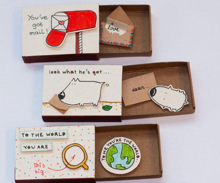Как сделать из спичечного коробка подарок 31