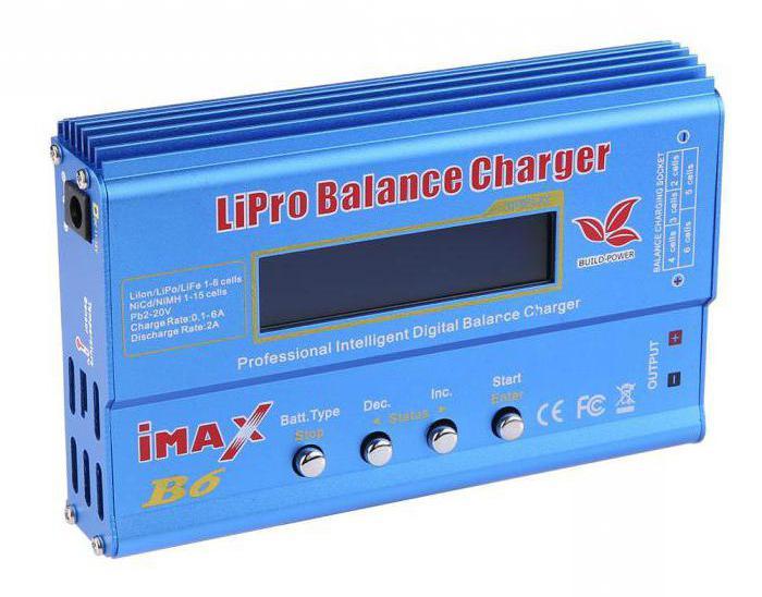 как заряжать аккумулятор зарядным устройством imax b6