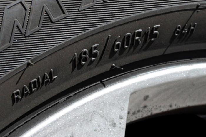 размеры зимних шин