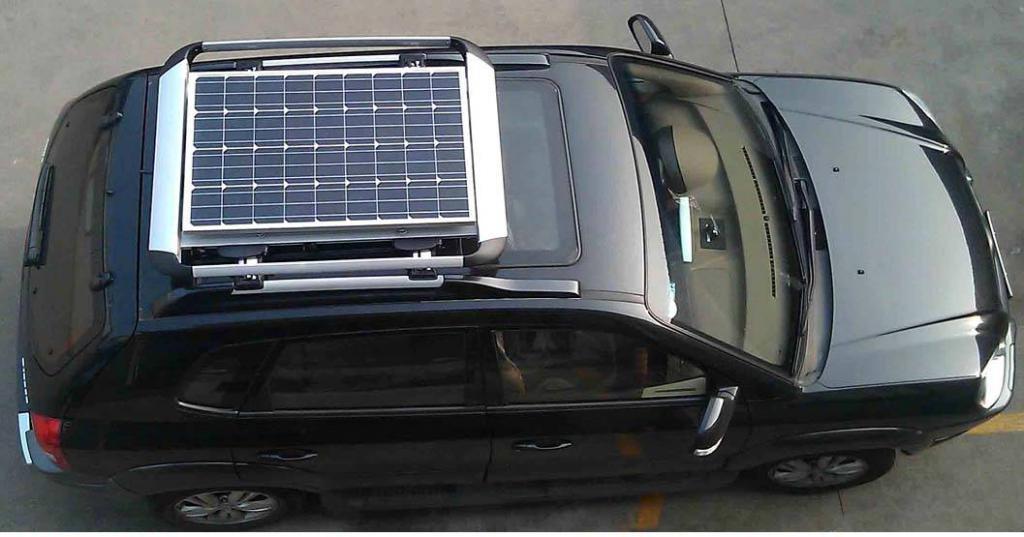 установка солнечной батареи на автомобиль