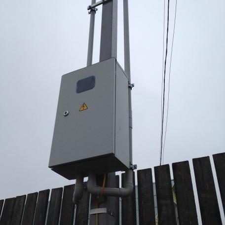высота трубостойки для ввода электричества