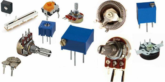 Переменные резисторы