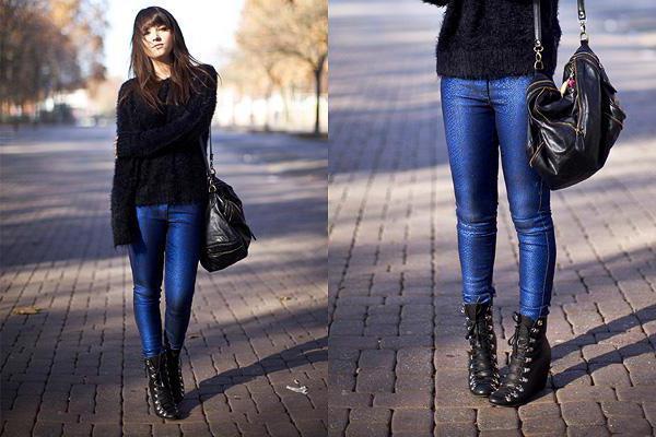синий цвет джинсов