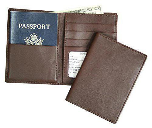 мужское портмоне с отделением для паспорта