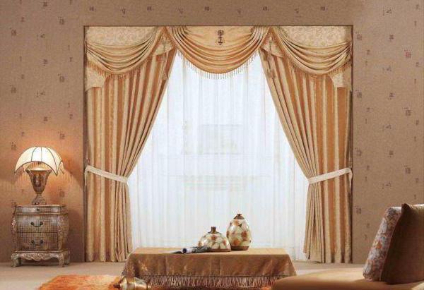 классические шторы фото