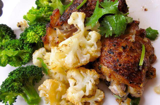 цветная капуста с курицей рецепты приготовления на сковороде
