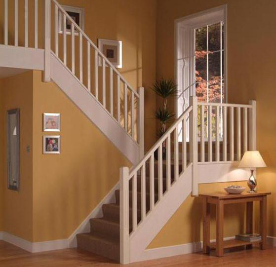 Лестница на второй этаж с площадкой своими руками чертеж
