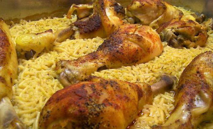 ножки куриные в духовке с рисом