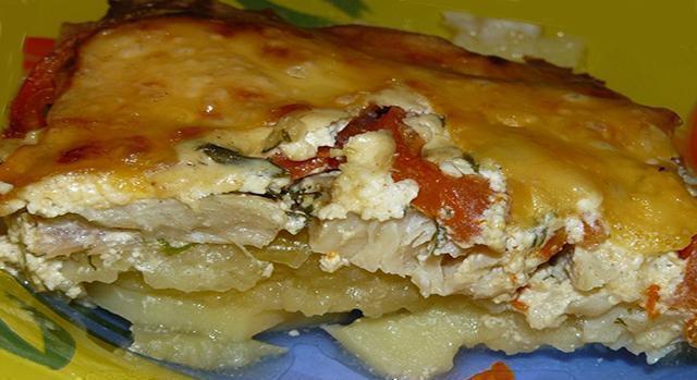 Запеканка из рыбы и картофеля с пошаговый рецепт