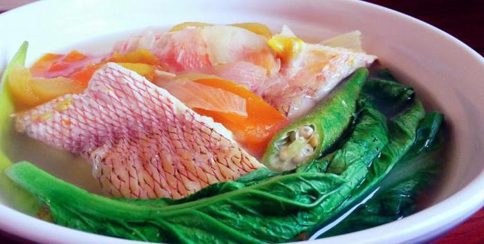 рецепты супа из морского окуня