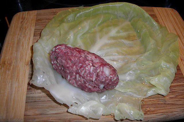 рецепт приготовления голубцов с мясом и рисом