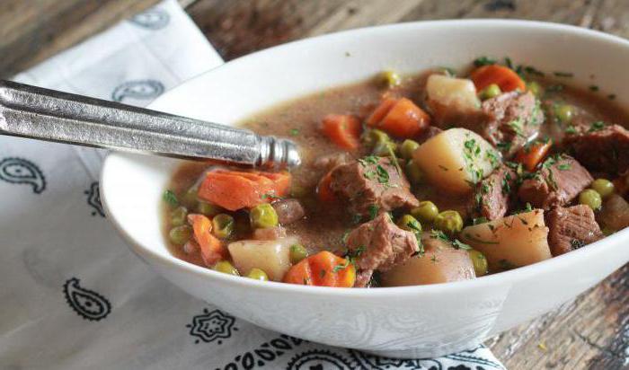 Картошка тушеная с мясом рецепты