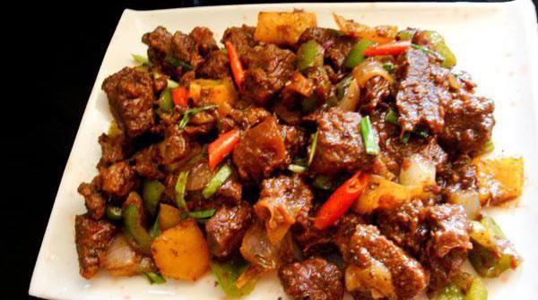 мясо по японски в соевом соусе