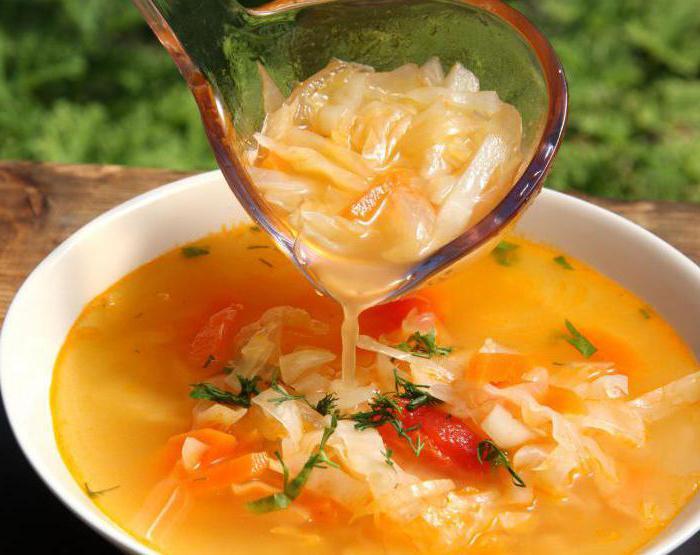 суп из квашеной капусты без мяса