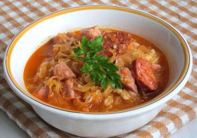 суп из квашеной капусты с мясом рецепт с фото