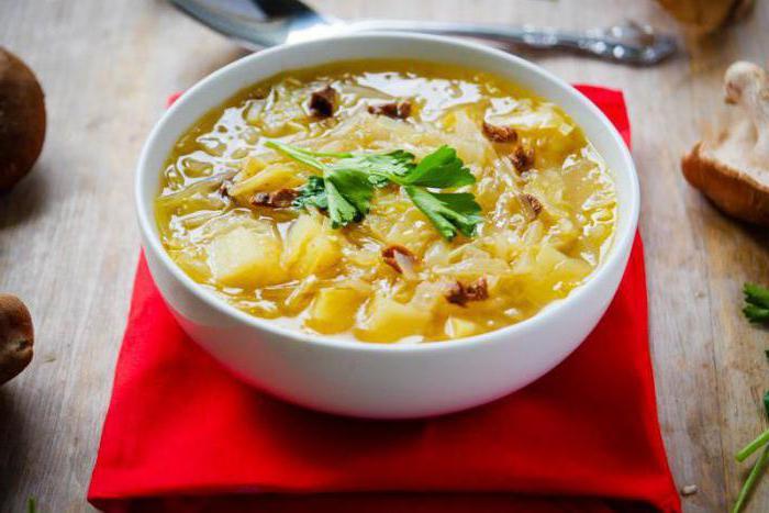 суп из квашеной капусты с мясом пошагово фото