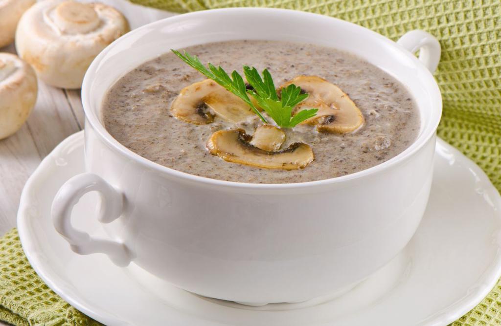 Грибной суп и диета
