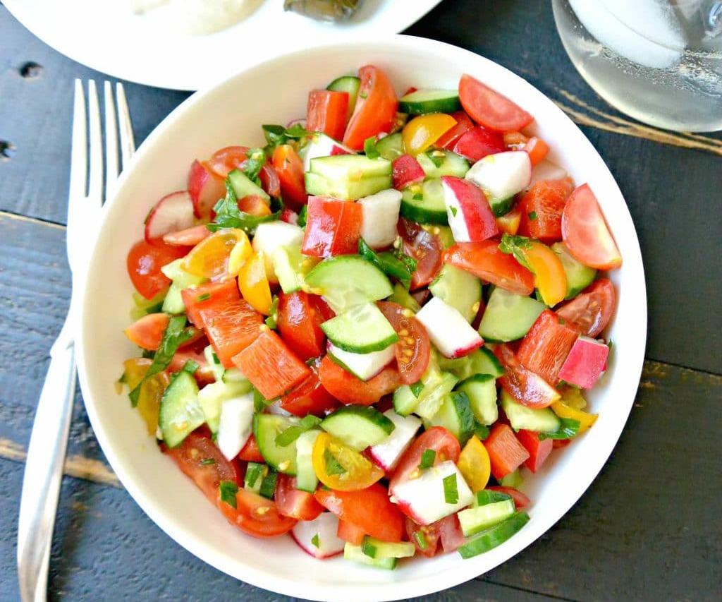 легкий и вкусный салат