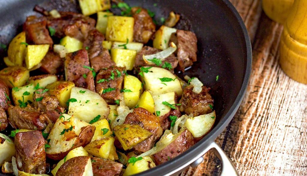 они жареная картошка с мясом на сковороде картинки шаманы