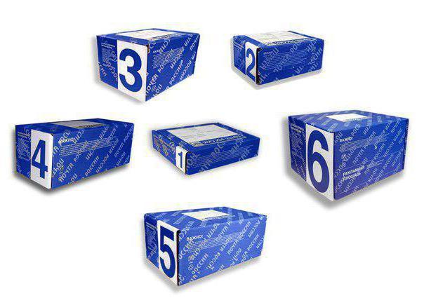 размер коробки для посылки почта россии