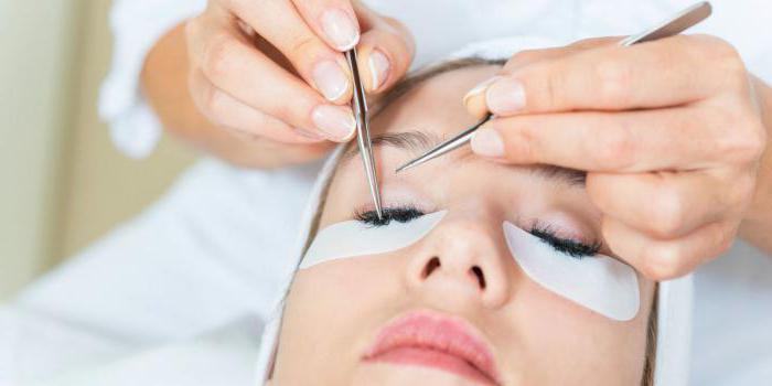 после наращивания ресниц красные глаза что делать процедура