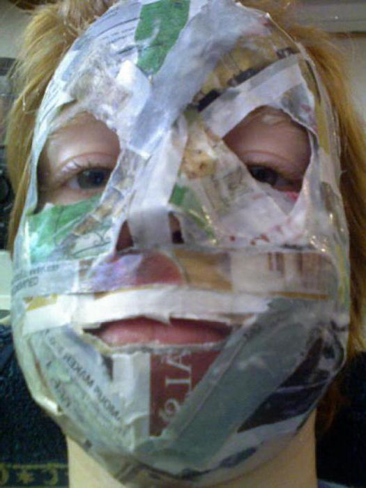как сделать страшную маску своими руками из бумаги