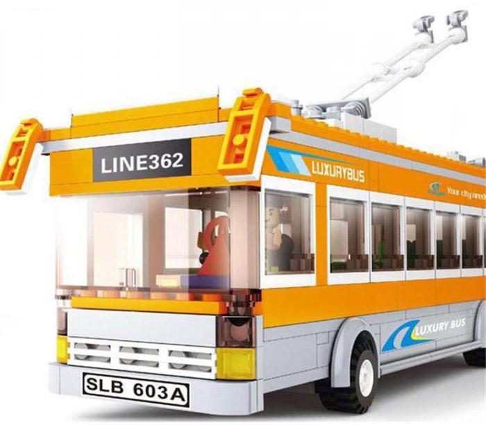 конструктор sluban школьный автобус схема