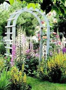 Как сделать арку на даче для цветов