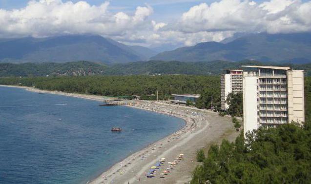 абхазия гагра отели на берегу моря