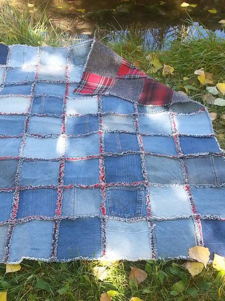 лоскутное шитье из старых джинсов