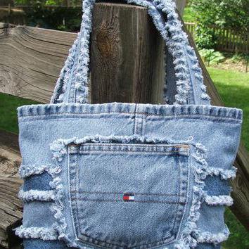 лоскутное шитье сумки из джинсов
