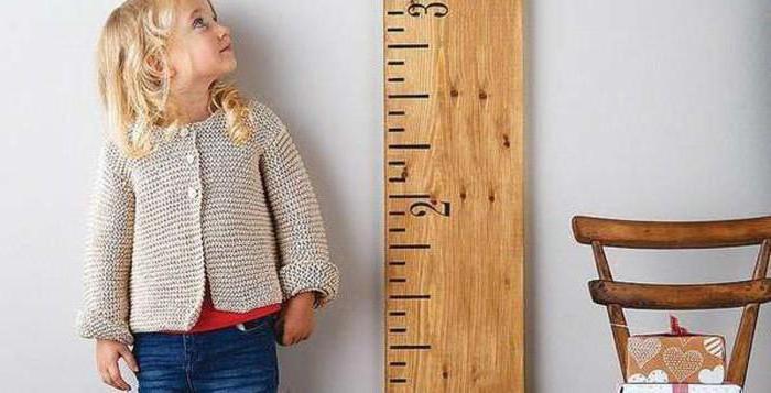 Таблица роста веса детей