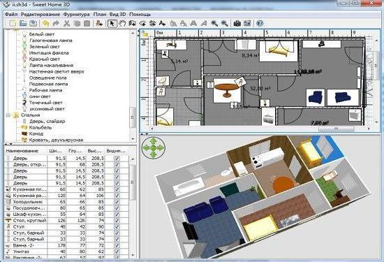 программа 3d моделирования дизайна интерьера