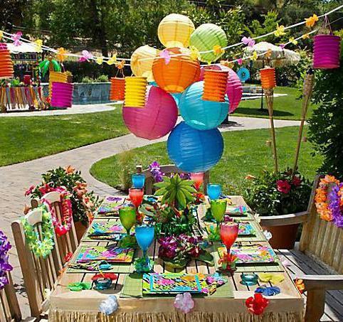 Гавайская вечеринка для ребенка