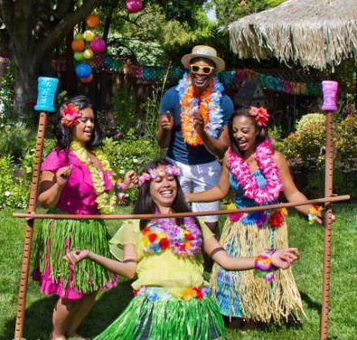День рождения ребенка в стиле гавайская вечеринка