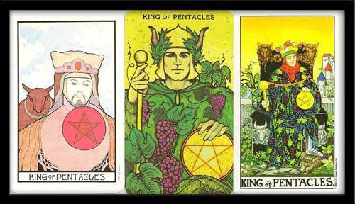 карта таро король пентаклей