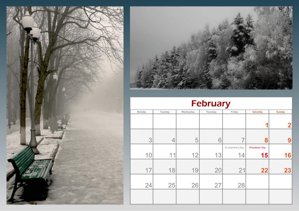 интересные решения для календаря