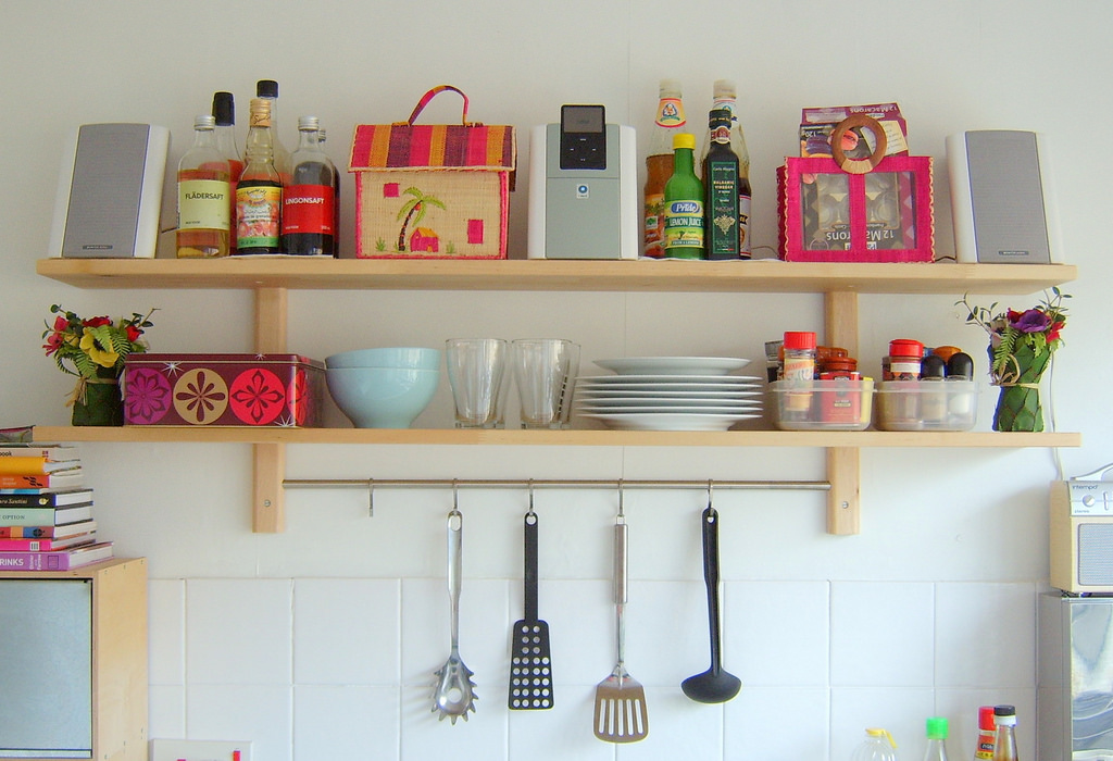 do-it-yourself shelf for spices