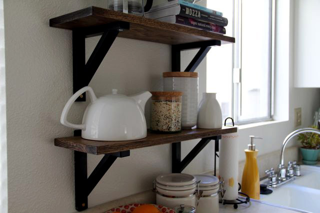 features of creating shelves in the kitchen