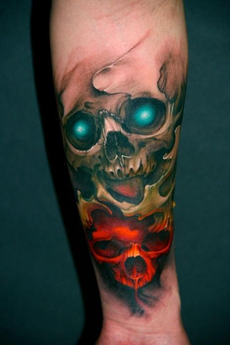 Татуировка Череп что означает такая наколка  SYLru