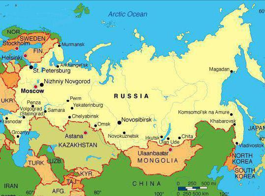 характеристика географического положения россии