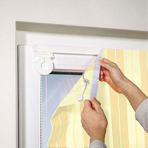 крепятся римские шторы фото