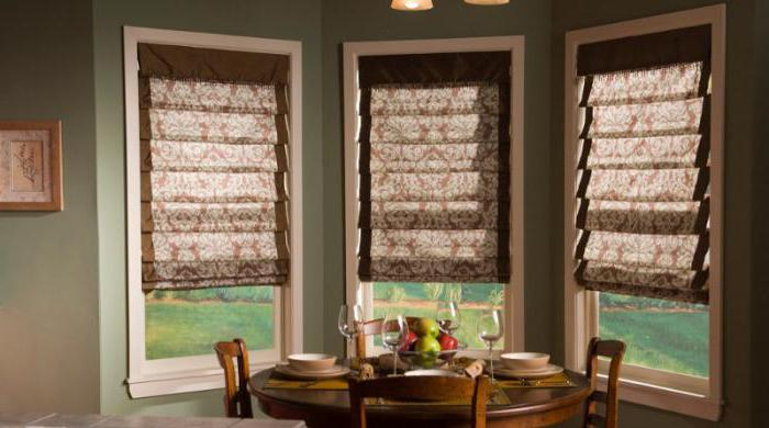 как крепятся римские шторы на пластиковые окна