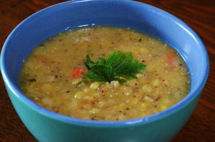 суп гороховый на воде рецепт простой