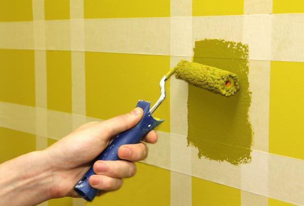 покраска стен в ванной комнате дизайн