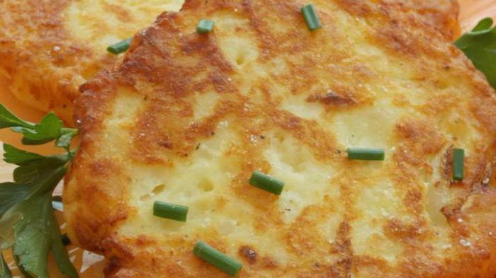 осталось картофельное пюре что можно приготовить