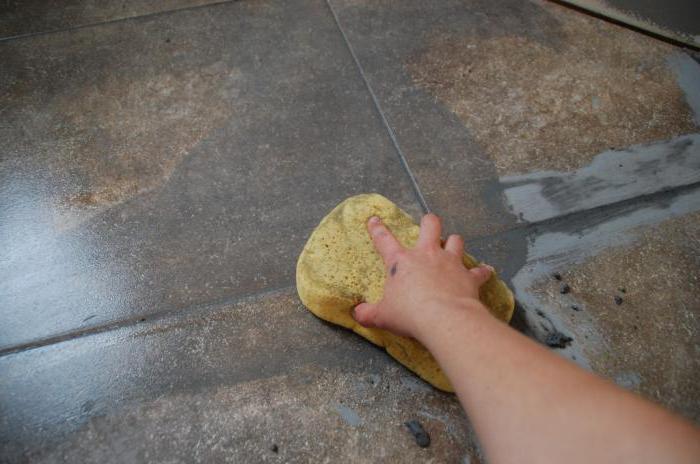 затирка швов плитки на полу