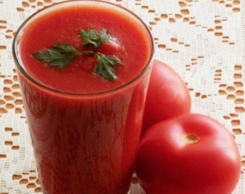 Tomato smoothie.