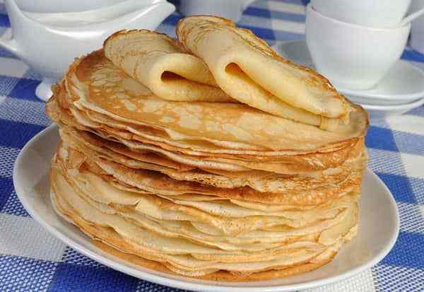 Ready-made openwork pancakes.